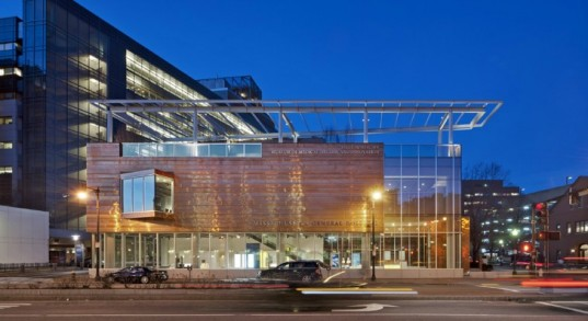 Beautiful Boston Hospital Facility Glimmers With a Recycled Copper Facade