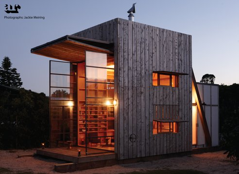 Tiny Modern Seaside Hut Built On Sled So That It Move With Shifting Sands