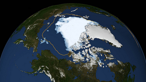 Arctic Ice Hits New Low