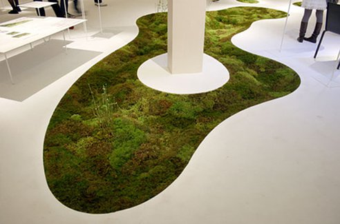 Delectable Moss Carpet Is 3D Spun Using Plant-Based Fibers