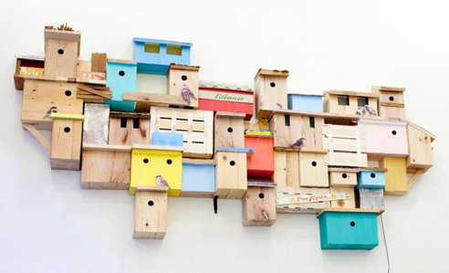 Artists Build a 'Shanty Town' for Evicted Urban Birds