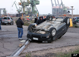 Taranto, Italy Tornado: Rare Fall Twister Hits Steel Factory (VIDEO)