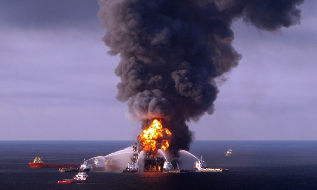 "(FILES) A file photo taken on on April 21, 2010 shows a US Coast Guard handout image of fire boat response crews as they battle the blazing remnants of the BP operated off shore oil rig, Deepwater Horizon, in the Gulf of Mexico.   Failures by a number of parties led to the Gulf of Mexico oil disaster, British energy group BP concluded in the results of an internal inquiry published on Wednesday, September 8, 2010.   ""No single factor caused the Macondo well tragedy. Rather, a sequence of failures involving a number of different parties led to the explosion and fire which killed 11 people and caused widespread pollution in the Gulf of Mexico earlier this year,"" BP said in a summary of the report.     AFP PHOTO/US COAST GUARD/RESTRICTED TO EDITORIAL USE (Photo credit should read HO/AFP/Getty Images)"