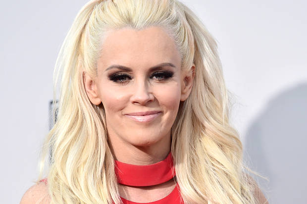 Jenny McCarthy arrives at the American Music Awards at the Microsoft Theater on Sunday, Nov. 22, 2015, in Los Angeles. (Photo by Jordan Strauss/Invision/AP)