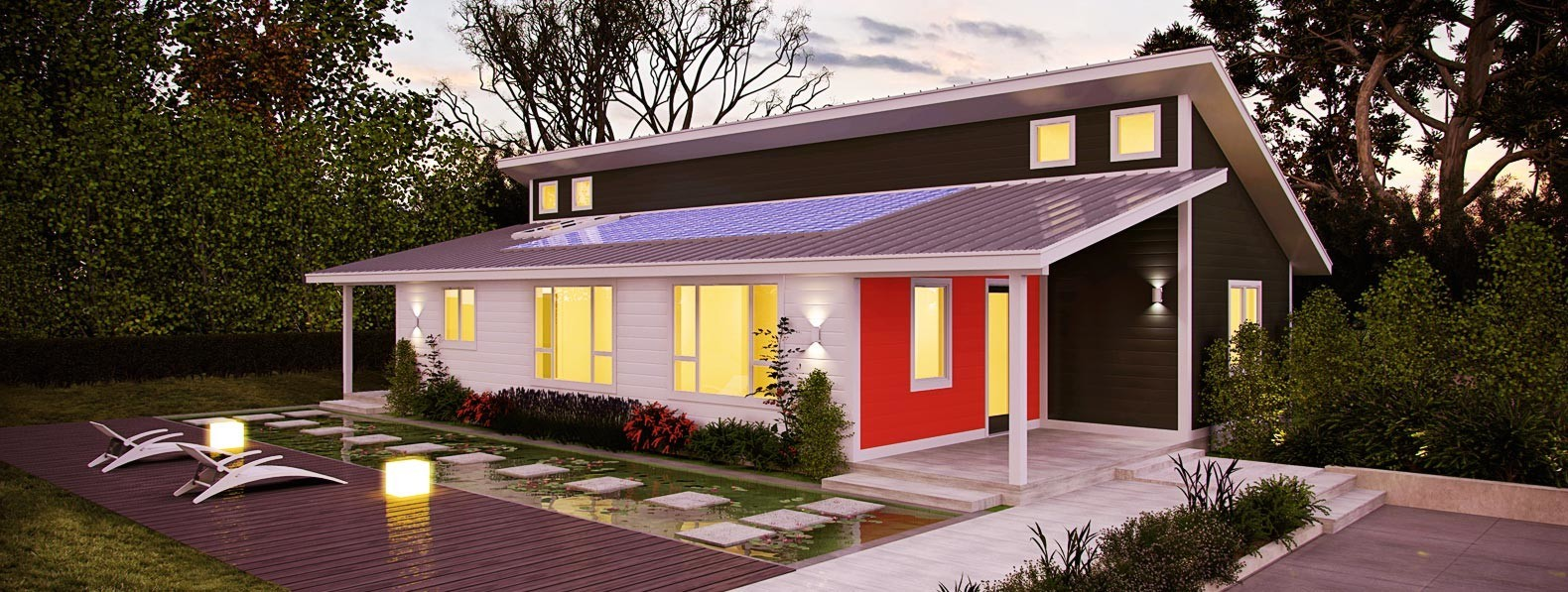 Deltec homes ridgeline netzero home 1580 597 global for Netzero home plans