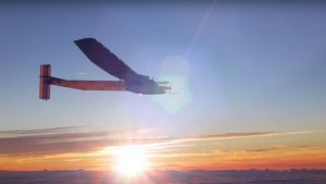 A SOLAR POWERED PLANE JUST CROSSED THE ATLANTIC