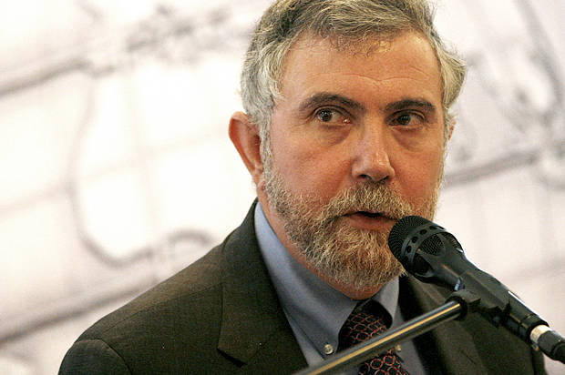 US Nobel Prize of Economy winner Paul Krugman delivers his speech after he was awarded with the Global Economy Prize 2010 of the Kiel Institute for World Economy in Kiel, northern Germany, on Sunday, June 20, 2010. (AP Photo/Heribert Proepper)