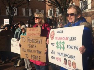 GRASSROOTS POWER STALLS TRUMPCARE